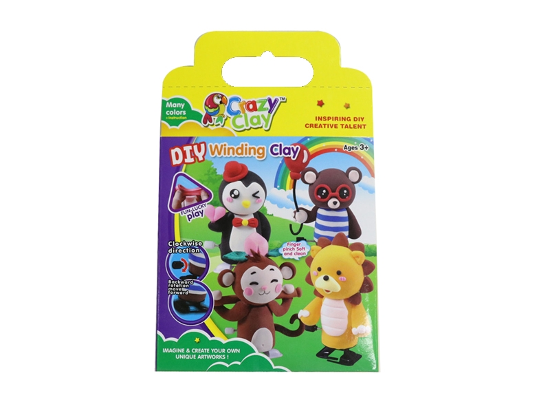 WIND UP ANIMALS W/PLAY DOUGH - HP1126837