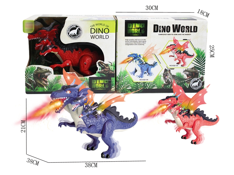 B/O DINOSAUR W/WALKING & LIGHT & SOUND,ORANGE/PURPLE - HP1146384