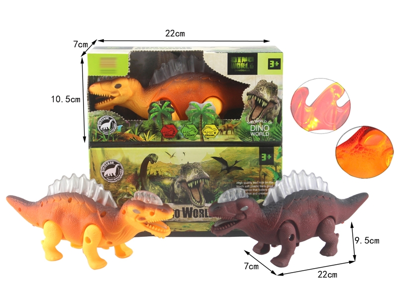 B/O DINOSAUR W/WALKING & LIGHT & SOUND,YELLOW/BROWN - HP1146393