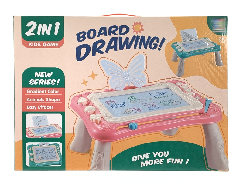 MAGNETIC DRAWING BOARD,PINK/GREEN - HP1146960