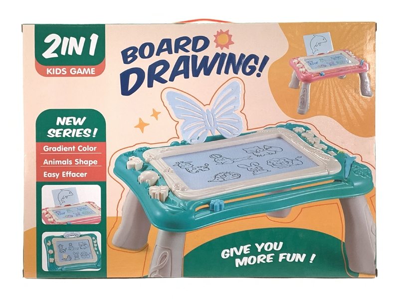 MAGNETIC DRAWING BOARD,PINK/GREEN - HP1146961
