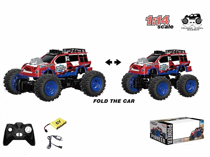 1:14 ALL-WHEEL-DRIVE TORSIONAL RC CAR,BLUE - HP1147177