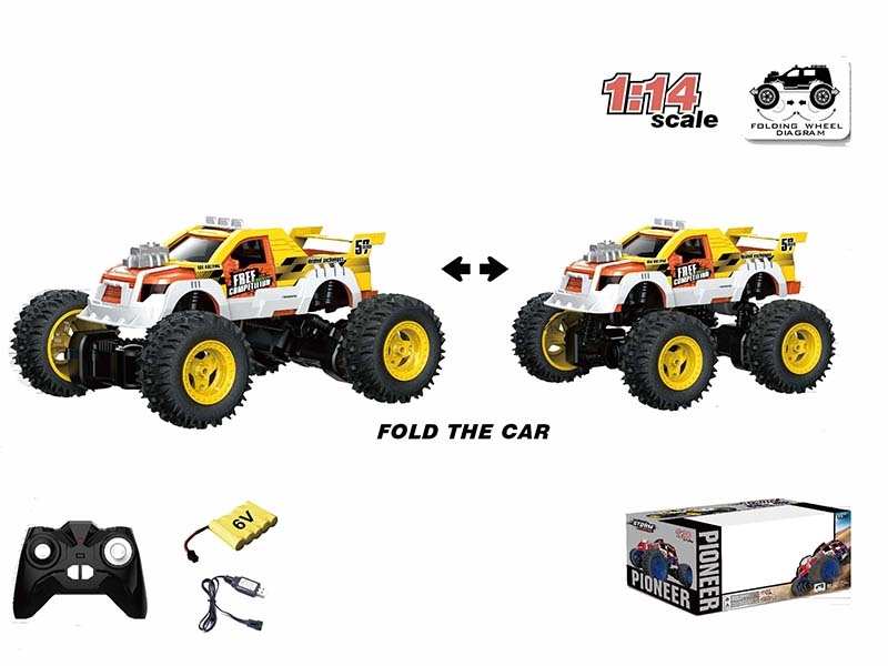 1:14 ALL-WHEEL-DRIVE TORSIONAL RC CAR,YELLOW - HP1147178