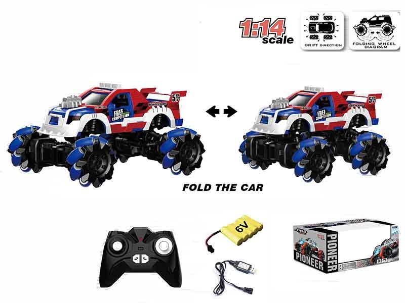 1:14 ALL-WHEEL-DRIVE FOLDING DRIFT RC CAR,BLUE - HP1147180