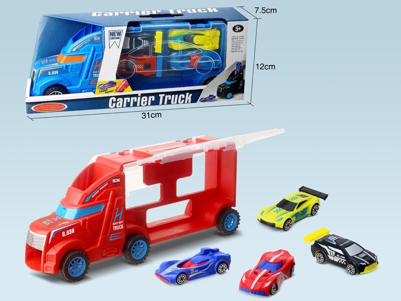 FREE WAY TRUCK W/FREE WAY CAR 4PCS - HP1147535