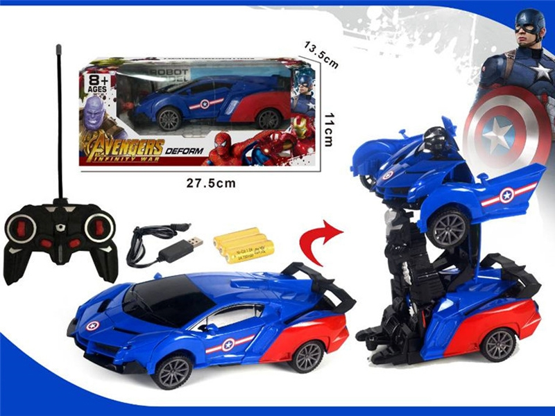 1:16 R/C TRANSFORMER CAR W/LIGHT,INCLUDE BATTERY - HP1155362