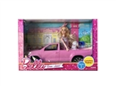 "11.5""JOINT BODY DOLL W/FREE WAY CAR"