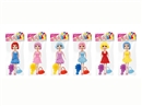 "7""BENDABLE DOLL W/ACCESSORIES,3ASST"